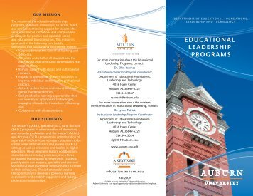 442KB - College of Education - Auburn University
