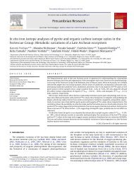 In situ iron isotope analyses of pyrite and organic carbon isotope ...