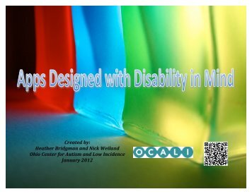 Apps Designed with Disability in Mind - Ohio Center for Autism and ...