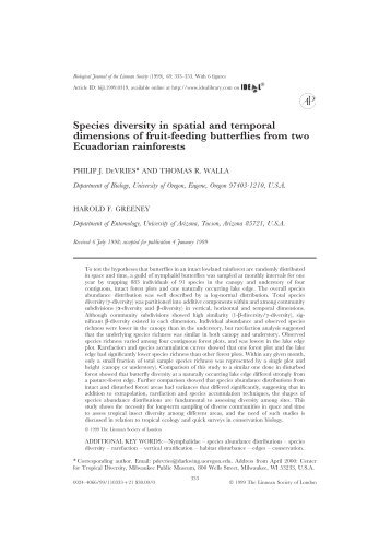 Species diversity in spatial and temporal ... - ResearchGate