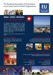 annual summer conference 19–21 june 2009, geneva - EUConsult