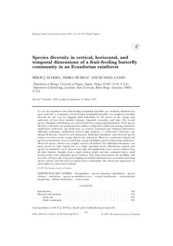 Species diversity in vertical, horizontal, and temporal dimensions of ...