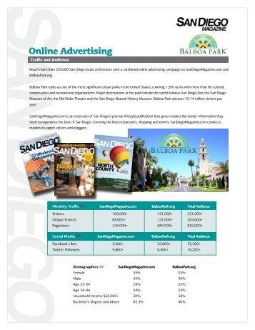 Online advertising - Balboa Park
