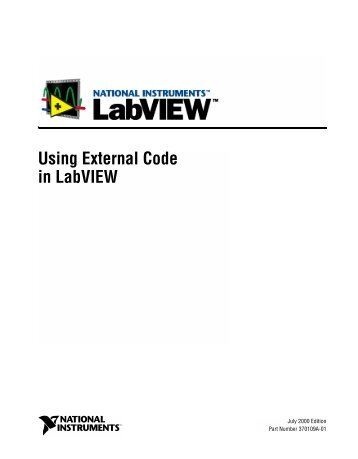 Using External Code in LabVIEW - National Instruments