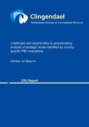 Challenges and opportunities to peacebuilding ... - Clingendael