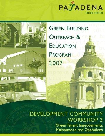 DEVELOPMENT COMMUNITY WORKSHOP 3 - City of Pasadena