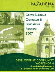 Green Building Maintenance and Operations for ... - City of Pasadena