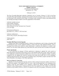 PTMA Meeting February 12, 2013 Page 1 of 3 PENN TOWNSHIP ...