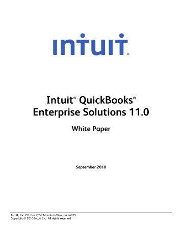 QuickBooks Enterprise Edition product Detail – Web - The ...