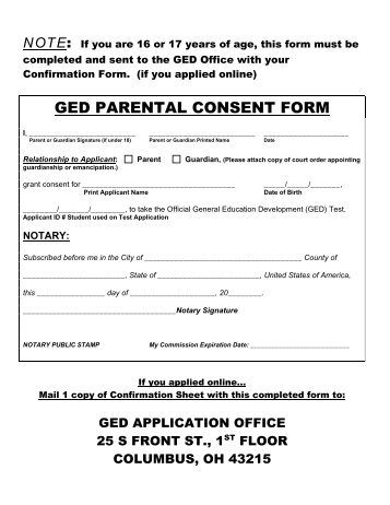 Parental Consent Form Consent To Terminate Parental Rights Form