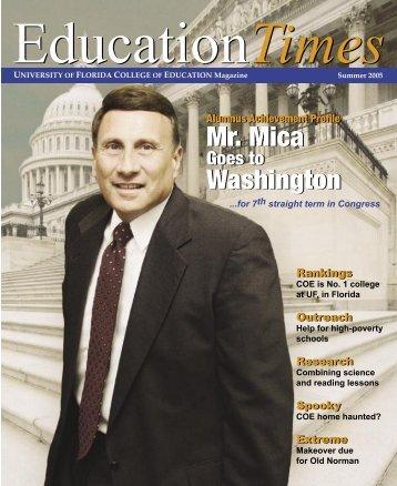 Mr. Mica Washington Mr. Mica Washington - College of Education