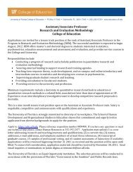 Assistant/Associate Professor Research and Evaluation ...