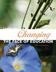 the face of education - College of Education - University of Florida