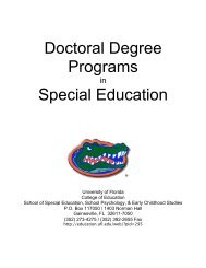 Doctoral Degree Programs Special Education - College of Education