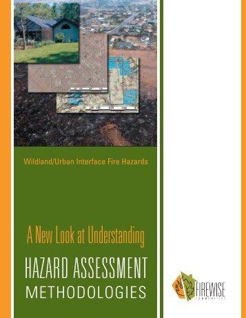 A New Look at Understanding Hazard Assessment ... - Firewise