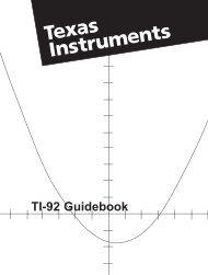TI-92 Guidebook - Kent J. Crippen