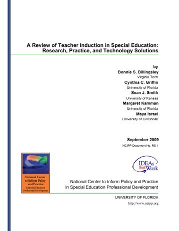 A Review of Teacher Induction in Special Education ... - NCIPP