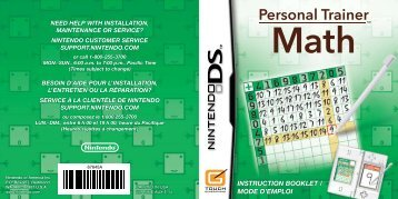 INSTRUCTION BOOKLET / MODE D'EMPLOI ... - Nintendo