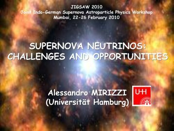 Supernova Neutrinos - Department of Theoretical Physics
