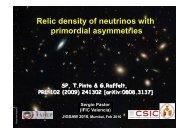 Relic density of neutrinos with primordial asymmetries