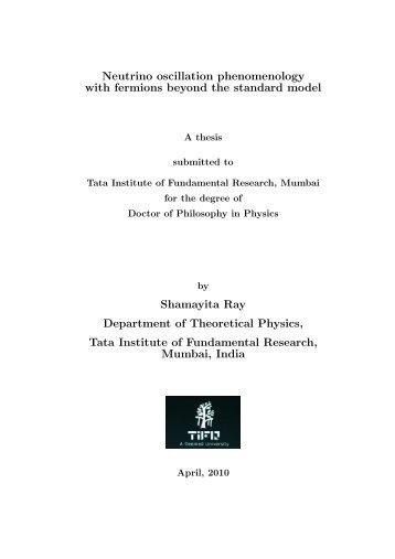 3899 KB pdf file - Department of Theoretical Physics - Tata Institute ...