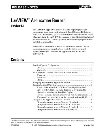 labview application builder - National Instruments