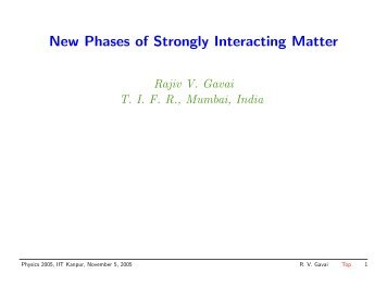 Physics 2005 - Department of Theoretical Physics