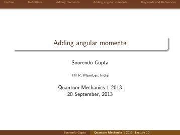 Adding angular momenta