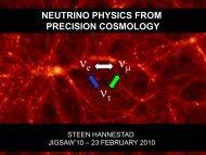 Neutrino physics from precision cosmology