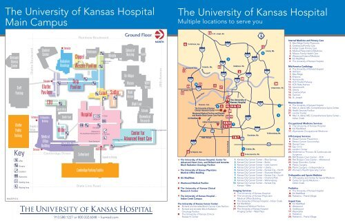 System Of Services Map The University Of Kansas Hospital