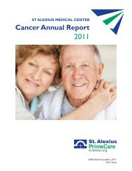 2011 Cancer Annual Report - St. Alexius Medical Center