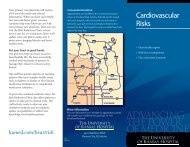 Cardiovascular Risks - The University Of Kansas Hospital