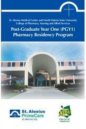 Pharmacy Residency Program - St. Alexius Medical Center