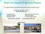 Prime Care Surgical Weight Loss Program - Mid Dakota Clinic