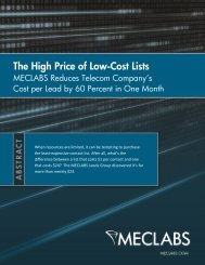 The High Price of Low-Cost Lists - meclabs