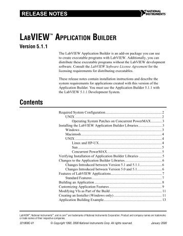Installing the LabVIEW Application Builder Libraries