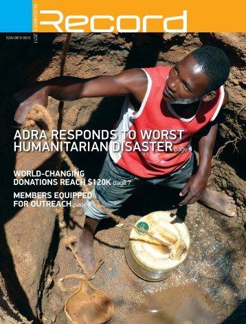 ADRA ResponDs to woRst humAnitARiAn ... - RECORD.net.au