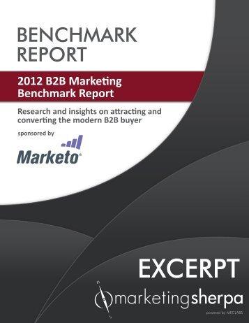 2012 B2B Marketing Benchmark Report - meclabs