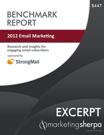 2012 Email Marketing Benchmark Report - MarketingSherpa