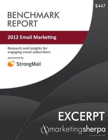 2012 Email Marketing Benchmark Report - MarketingSherpa
