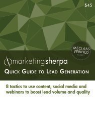 8 tactics to use content, social media and webinars to ... - meclabs