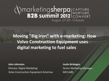 """Moving """"Big Iron"""" with e-marketing: How Volvo ... - meclabs"""