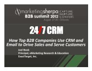 How Top B2B Companies Use CRM and Email to Drive ... - meclabs