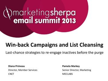 Send list cleanse and last chance emails - meclabs