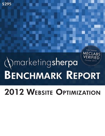 2012 Website Optimization Benchmark Report - meclabs