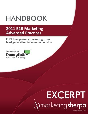 2011 B2B Marketing Advanced Practices - meclabs