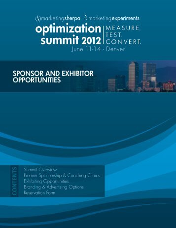 SPONSOR AND EXHIBITOR OPPORTUNITIES - meclabs