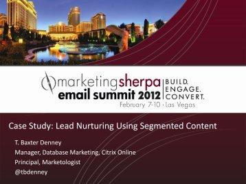 Case Study: Lead Nurturing Using Segmented Content - meclabs