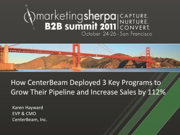 How CenterBeam Deployed 3 Key Programs to Grow ... - meclabs