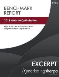 2012 Website Optimization Benchmark Report - meclabs